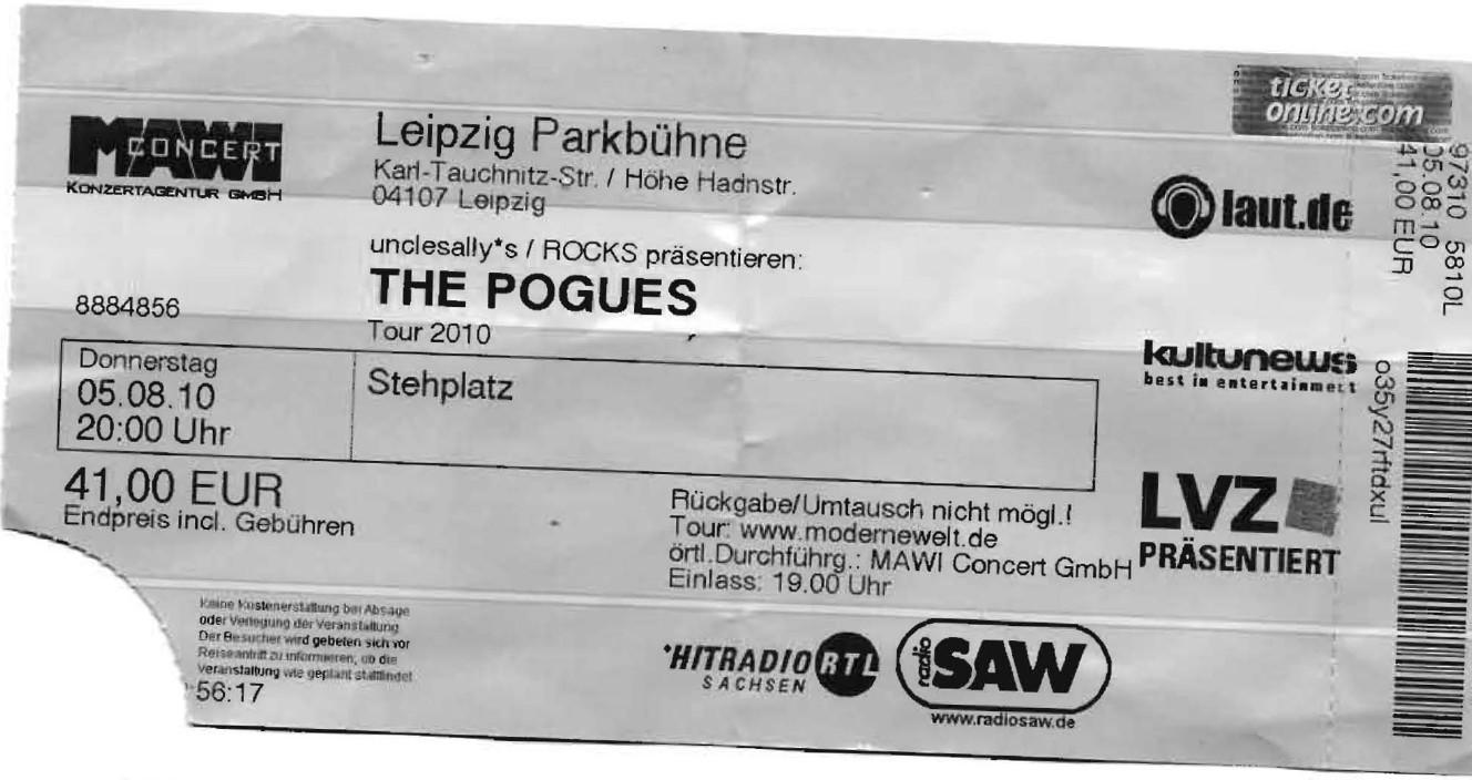 The Pogues - Parkbühne - Leipzig