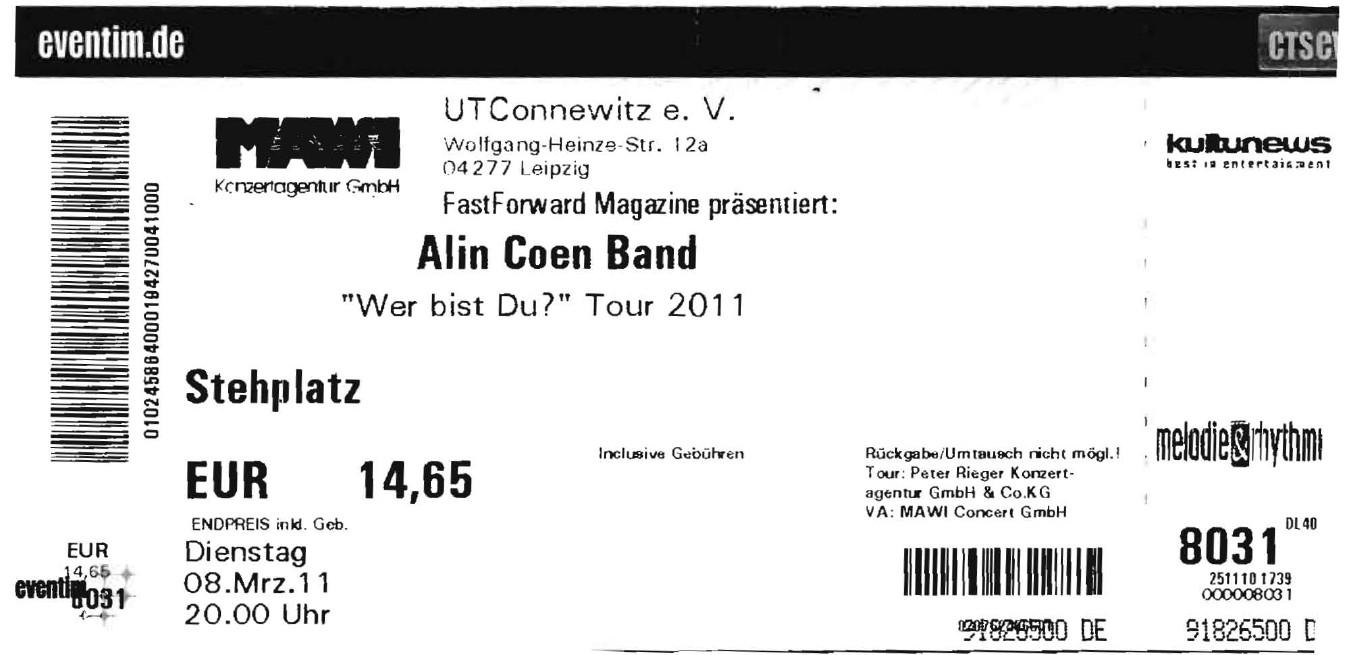 Alin Coen Band - UT Connewitz - Leipzig