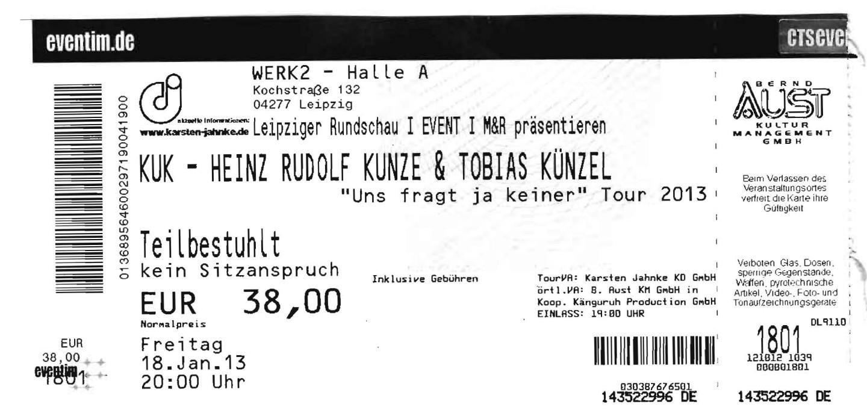 Heinz Rudolf Kunze & Tobias Künzel im Werk 2 in Leipzig