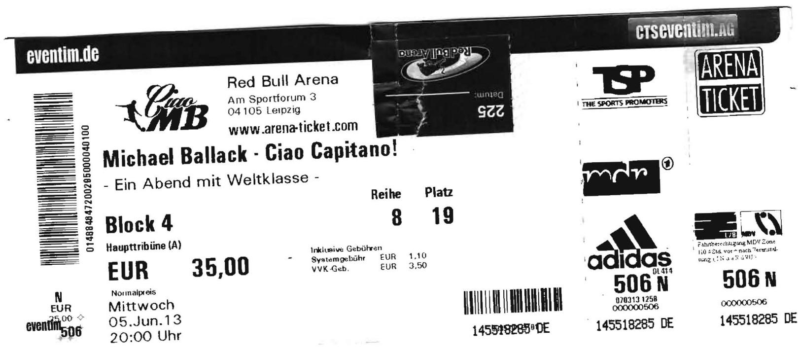 Michael Ballack - Cia Capitano - Red Bull Arena Leipzig