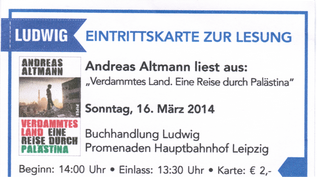 Eintrittskarte - Lesung Andreas Altmann